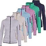 Strickfleece-Sweatjacke-Outdoor Jacke CMP Damen mit Fleece-Innenausstattung Stehkragen. viele Farben. Für Sport Arbeit Wandern Freizeit Abele