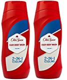 Old Spice Cooling 2 in 1 Shower Gel & Shampoo TWO PACK