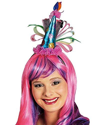 Mini Party Hut Haarreif mit Glitzer für Damen zum Clown (Dame Kostüme Die Clown Erwachsene)