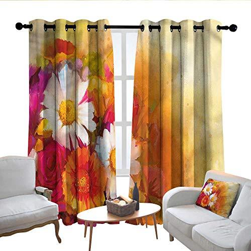 """Lewis Coleridge Moderne Landhaus-Vorhänge mit Blumen, Rosen-Blumen, authentisch, Design Vorhänge 2 Panels Schlafzimmer Küche Vorhänge 120"""" W x 96"""" L Color05"""