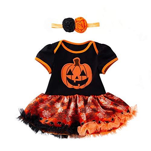 Baby Mond Kostüm - Riou Kinder Langarm Halloween Kostüm Top Set Baby Kleidung Set Infant Kleinkind Baby Mädchen Halloween Kürbis Bogen Party Kleid Kleidung Kleider (Gelb, 73)