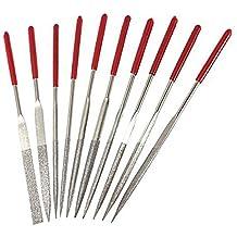 Hrph 10 Piezas 160 mm limas de aguja de diamante de la joyería herramienta de talla