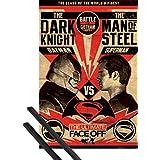 Póster + Soporte: Batman Vs Superman Póster (91x61 cm) The Ultimate Face Off Y 1 Lote De 2 Varillas Negras 1art1®