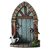 Miniature Pixie, Elf, Fairy Door - Tree Garden Home Decor - Fun Quirky Gift Figurine - H9cm