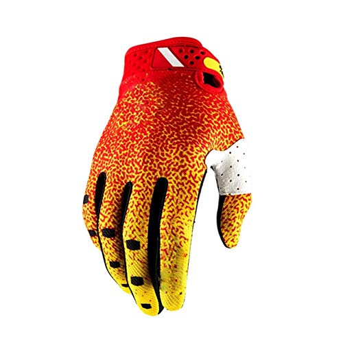 WULIHONG-guantiMountain Bike Full Finger Uomo Donna Guanti off Road Guanti da Bici Downhill Cycling Guanti da Moto Lavabili XXL Giallo