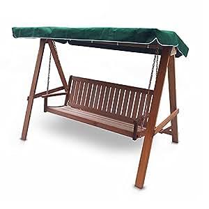 Hecht Hollywoodschaukel Futon Garten-Schaukel Meranti-Holz 4-sitzer (ca. 209 x 125 x 166 cm (BxTxH))