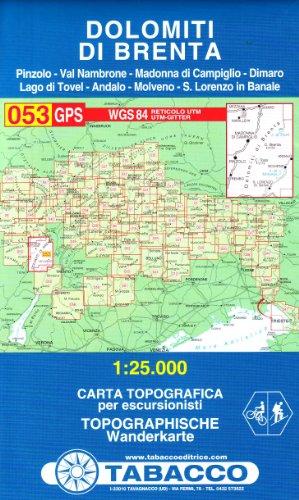 Dolomiti di Brenta 1:25.000 (Carte topografiche per escursionisti) por Tabacco Casa Editrice