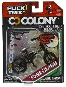 "The Cube by Colony: Flick Trix ~4"" BMX Finger Bike w/ DVD"