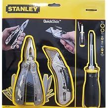 Stanley Multi-Werkzeug 12in1 + Quick Slide Sportmesser + Schraubendreher 0-95-650