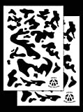 Acid Tactical® 2pezzi–23x 35cm singolo design camouflage Airbrush stencil per vernice spray–Duracoat Gun (Army camo)