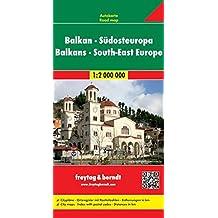 Balkan - Südosteuropa, Autokarte 1:2 000 000, freytag & berndt Auto + Freizeitkarten