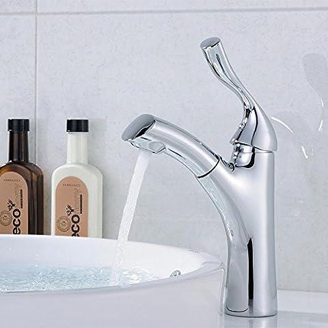 sbwylt-high-grade copper-hot e freddo disegno sotto contatore per lavabo, Rubinetto Chiave retractable-tension Bacini corrosione non ruggine