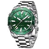 BERSIGAR BG-1617 Relojes automáticos de los Mejores Hombres - Reloj de Negocios Informal con Esfera de Acero Inoxidable Impermeable para Hombres