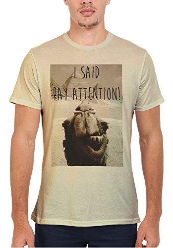 I Said Pay Attention Photo Bombing Camel Egypt Men Women Damen Herren Unisex Top T Shirt Sand(Cream)