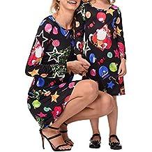 d9e5e5391 ZHRUI Vestido de Estrella de Navidad para Madre e Hija Vestido de Fiesta de  Cena (