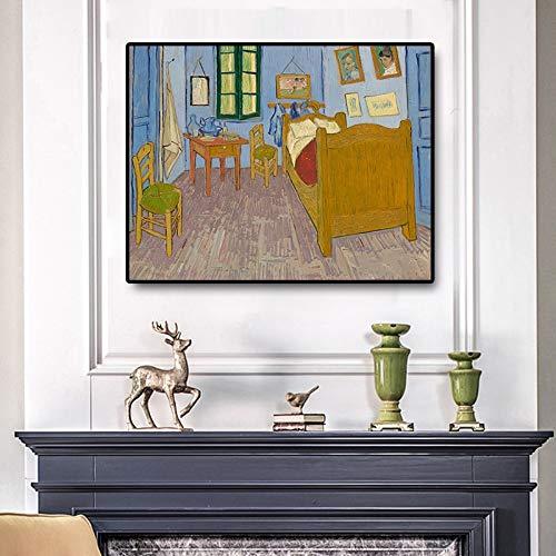Geiqianjiumai Pintor Famoso Artista en póster y Lienzo Mural en Lienzo de Pared escandinavo Dormitorio Pintura al óleo Pintura sin Marco 75x100cm