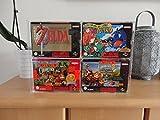 Ninodo UV Absorbtive Acryl Game Case Wandaufhängung & Standdisplay Für Super Nintendo und Nintendo 64 OVP Original Verpackung Passend Für Spiele wie Zelda Mario 64 (Für 4 SNES/N64 OVPs)