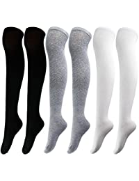 Aneco Over Knee Thigh Socks Muslo High Stockings Mujeres Sock para Cosplay, Daily Wear