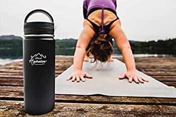 Stainless Steel Water Bottle - Thermo Flask Water Bottle - Hydration Bottle Eco Friendly - M&h Hydration Leak-proof, | Bpa-free Stainless Steel | Reusable Water Bottle | Double Walled Vacuum Insulated | Sistema - Keeps Drinks Cold For 18+ Hrs, Hot For 8 - Hiking, Running, Outdoors Water Bottle (32oz - 909ml) 1
