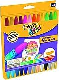 BIC Ölmalkreide BIC® KIDS Oil Pastels, sortiert, Kartonetui à 24 Stück