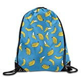 Banana Printing Print Drawstring Backpack Rucksack Shoulder Bags Gym Bag Sport Bag