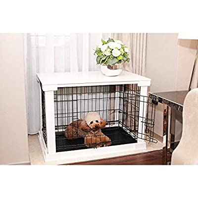 zoovilla White Cage with Crate Cover by Merry Products