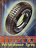 Pirelli Performance Reifen Auto & Motorrad Vintage Garage Wandschild aus Metall/Stahl, stahl, 15 x 20 cm