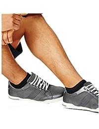 Hanes hombre x-temp ® arco apoyo calcetines de corte bajo - 514/4, Shoe: 6-12, Blanco/Azul