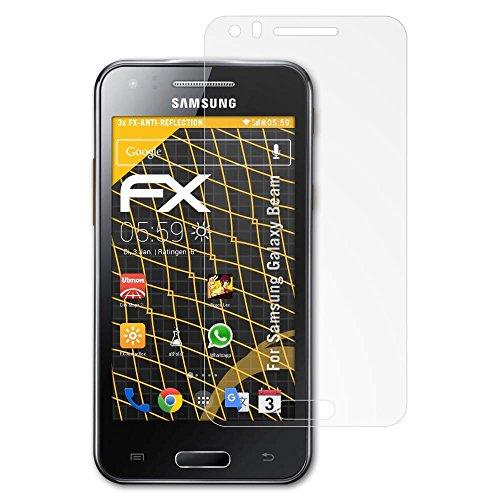 atFolix Panzerfolie kompatibel mit Samsung Galaxy Beam Schutzfolie, entspiegelnde und stoßdämpfende FX Folie (3X) -