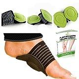Tchapson - 4 supporti imbottiti per arco plantare (2 paia), calzini per chi soffre di fascite plantare e piedi piatti, dispositivo ortesico per sostenere il tallone e la caviglia