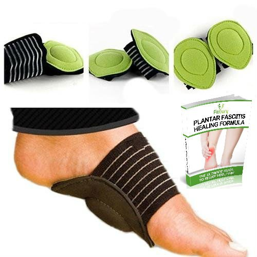 4Pcs Plantar Fasciitis Arch Support & FREE eBook, [2 Pairs] Fallen Arches Support, Cushioned Foot Arch Insoles For Plantar Fasciitis, Heel & Ankle Support Socks, Flat Feet Insoles [4 in Pack] Plantar Fasciitis Insoles, Arch Support Pads, Plantar Fasciitis Sock, Arch Supports For Flat Feet & Orthotic Insoles for Plantar Fasciitis