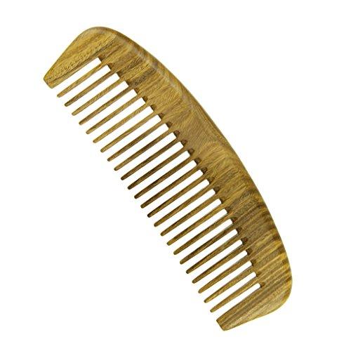 Bao Core Peigne En Vert Sandal En Forme de Demi-Lune Peigne à Main Portable Antistatique Comb Pour Unisexe Massage de Cuir Chevelu Cheveux Maison Salon de coiffure Coiffeur Professionnel