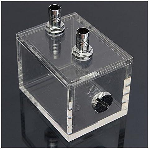 Radiador de refrigeracion de agua - SODIAL(R)nuevo bloque de agua pc cpu radiador de refrigeracion de agua de acrilico de 200ml transparente