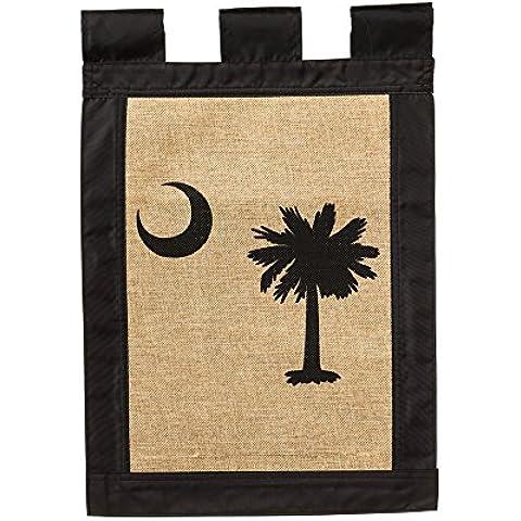 Evergreen South Carolina bandiera di Tela da giardino, 12,5 x 45,72 cm