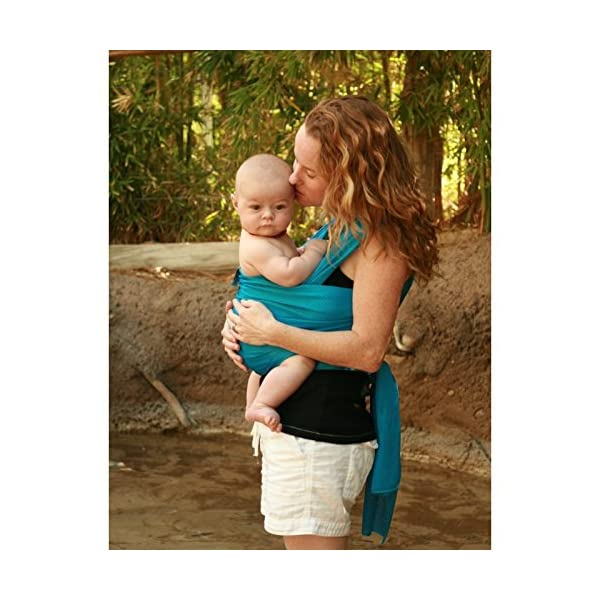 Beachfront Baby Sling Caribbean Blue one Size Azure Beachfront Baby  3
