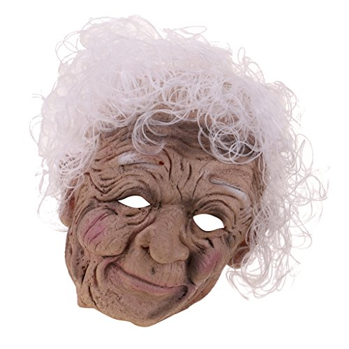 MagiDeal Halloween Maske Oma Hexenmaske Horror Maske Hexe Walpurgisnacht Halloween Maske Gesichtsmaske
