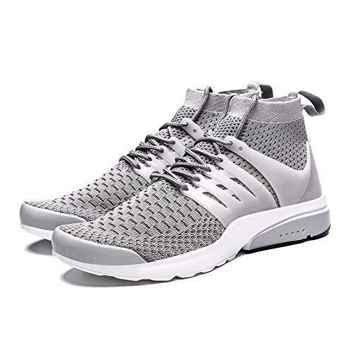 Canjerusof Männer Mesh-Turnschuhe Mesh-Obermaterial atmungsaktiv Sportschuhe High Top Gym Fitness-Trainer beiläufige laufende Schuhe -