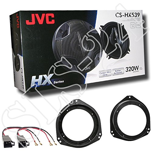 LSP-Set: JVC 3-Wege Koaxial CS-HX539-320Watt/40Watt RMS Lautsprecher-Paar+ Adapterkabel + Ringe für Opel Corsa B 01/93-08/08 ◦Corsa C 11/00-10/06 ◦Tigra 94-00 ◦Vivaro ab 01 •Einbauort: Fronttür
