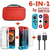 DSstyles for Nintend Switch Travel Carrying Bag Screen Protector Case Charging Cable red