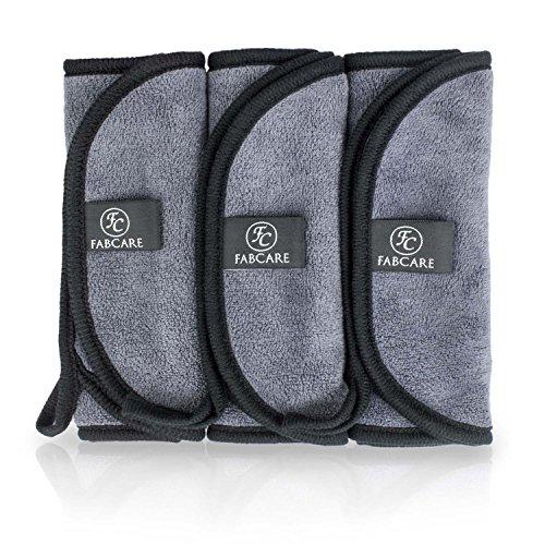 Make-Up Entferner Tuch (3er Set) | Premium Mikrofaser Abschminktuch 40x18cm | Abschminken nur mit Wasser | hypoallergenes Gesichtsreinigungstuch | sanft & schonend | waschbar & wiederverwendbar