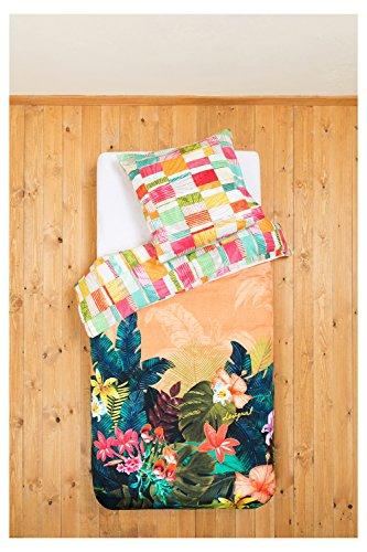 Desigual Parure de lit en satin de coton mako sauvage 80x 80+ 135x 200cm