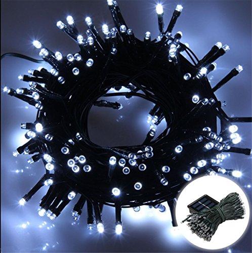 200 LED 22M Guirlandes Panneau Solaire Lampe Lumière Couleur Blanc Déco Fête Noël Mariage