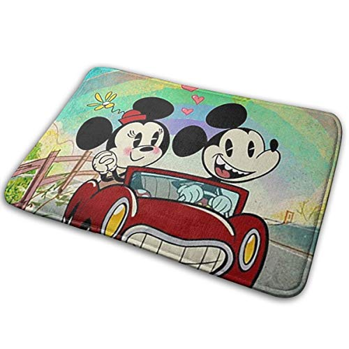 Greatbe Welcome Par Mat Mickey Mouse Et Minnie Mouse