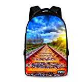 FOR U DESIGNS Classic Countryside Design School Backpack for College or Quiet Camping