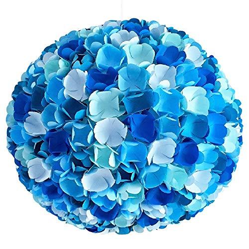 Little Blue Flower Mix, blaue Lampe Leuchte Lampenschirm Pendellampe Hängeleuchte Hängelampe...