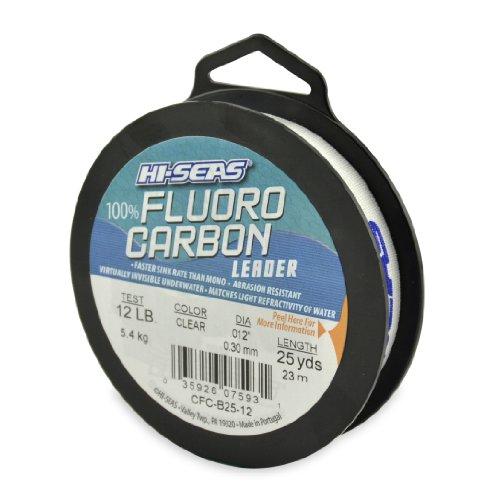 Hi-Saw Vorfach aus 100% Fluorocarbon, farblos, 25 Yard, 12 Pound Test -