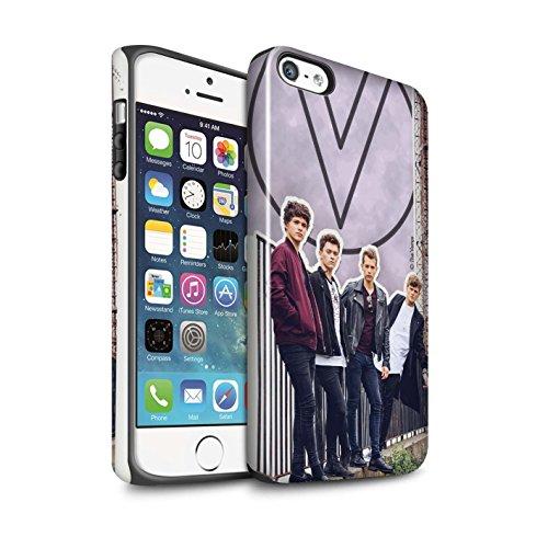 Offiziell The Vamps Hülle / Glanz Harten Stoßfest Case für Apple iPhone 5/5S / Pack 5Pcs Muster / The Vamps Doodle Buch Kollektion Ausgeschnitten
