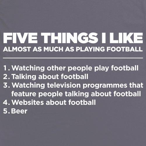Five Things I Like - Football T-Shirt, Herren Anthrazit
