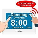 iGuerburn Digitaler Sprechende Kalender Touchscreen Wecker Tag mit 8