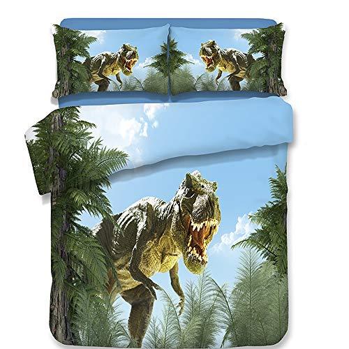 CXDM 3D Bettbezug-Set Ultra Soft Premium-Bettwäsche-Kollektion Keine Tröster 3PCS Bettwäsche (1 Bettbezug + 2 Kissen-Shams),Twin -